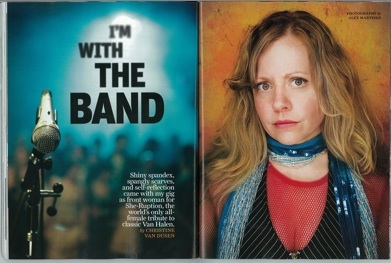 I'm With The Band: Shiny spandex, spangly scarves, and self-reflection came with my gig as front woman for She-Ruption, the world's only all-female tribute to classic Van Halen